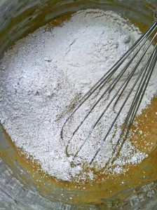 Oat flour and whole wheat flour