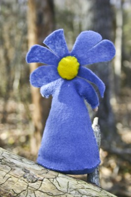small felt flower lady
