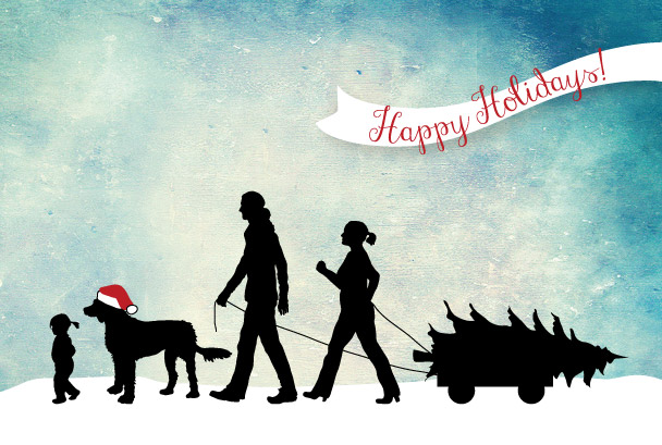 silhouette holiday card