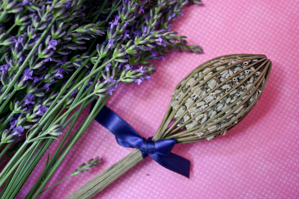 fresh lavender with sachet