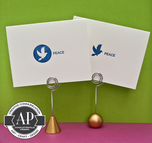 letterpress peace cards