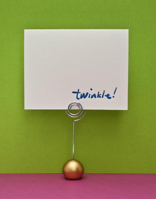 twinkle card holiday letterpress