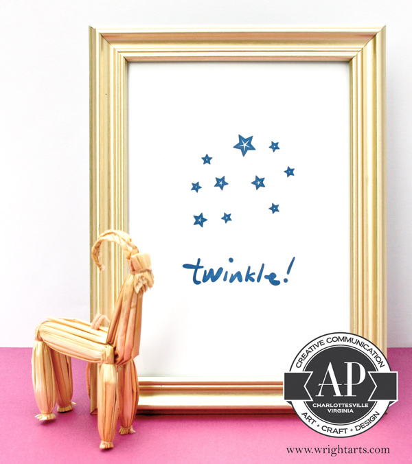 twinkle holiday letterpress print