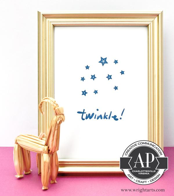 twinkle holiday letterpress print